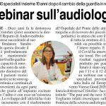 Webinar sull'audiologia